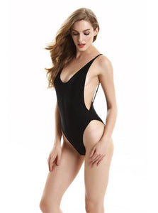 ONE PIECE BACKLESS DEEP SIDE CUT OUT MONOKINI SUMMER 2017 SWIMSUIT - impaviid