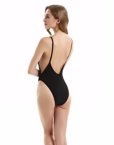 ONE PIECE BACKLESS DEEP SIDE CUT OUT MONOKINI SUMMER 2017 SWIMSUIT