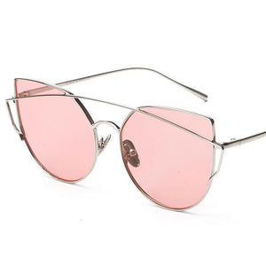 VINTAGE CAT EYE MIRRO SONNENBRILLE - unnachgiebig