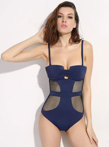 ONE PIECE MESH SWIMSUIT - impraid