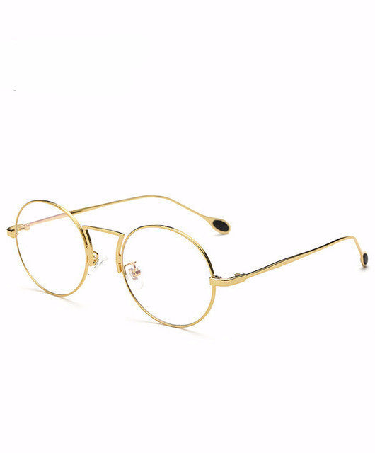 ANTI-BLUE RAY COMPUTER GLASSESS GOLD / Mustad raamid KOREAN STYLE - IMPAVIID