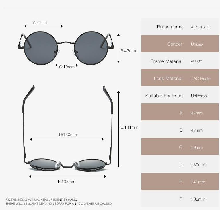 POLARIZED SMALL ROUND SUNGLASSES - impaviid