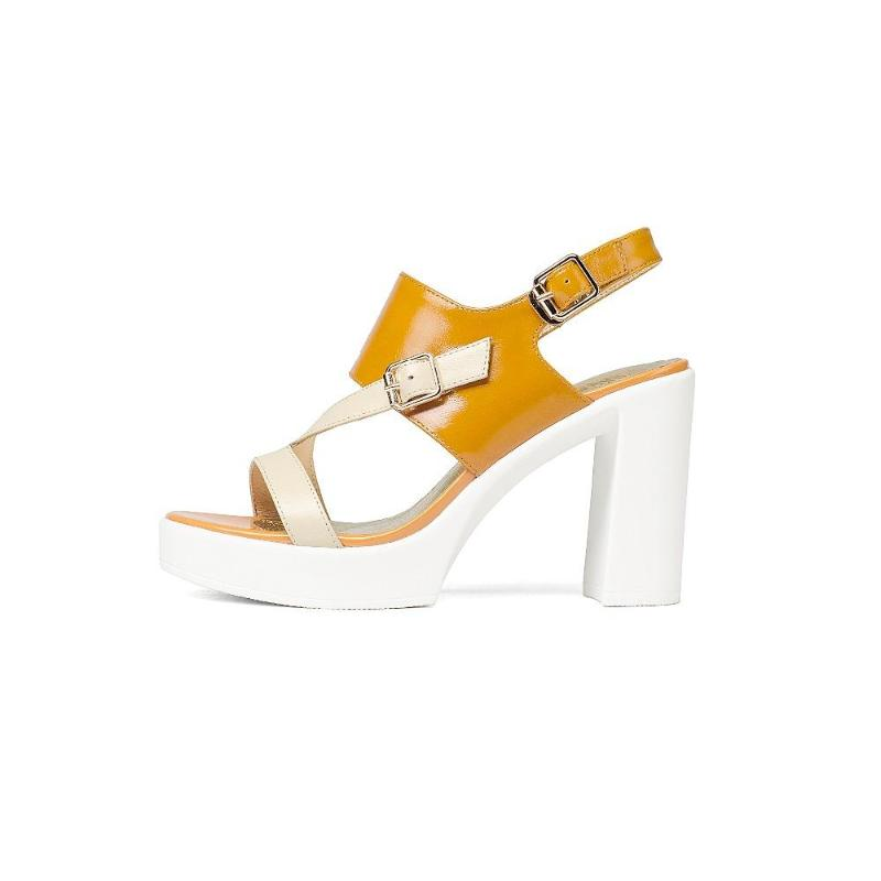 HOOF HEELS YELLOW SANDALS CRUELTY-FREE