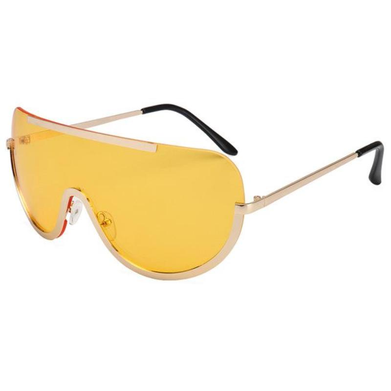 RETRO INSPIRED VISOR STYLE OVERSIZED SUNGLASSES MULTIPLE COLORS