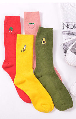 FUNNY CUTE FRUIT LONG LOOSE SOCKS ONE SIZE JAPANESE STYLE