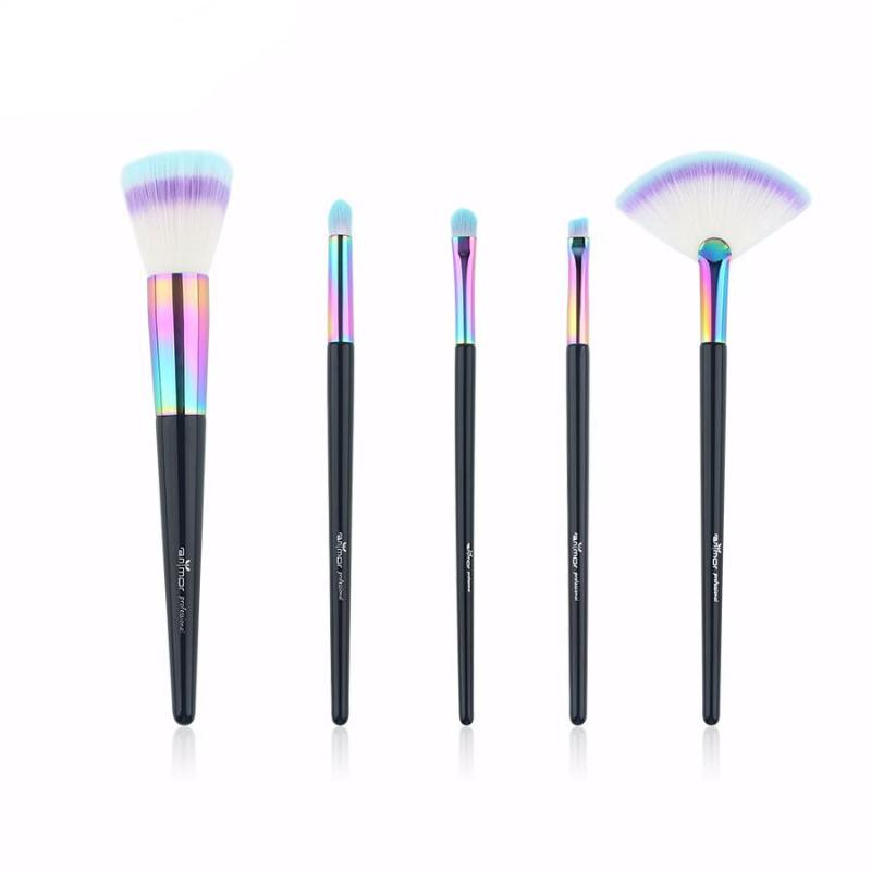 RAINBOW MAKEUP BRUSH SET 5 PCS