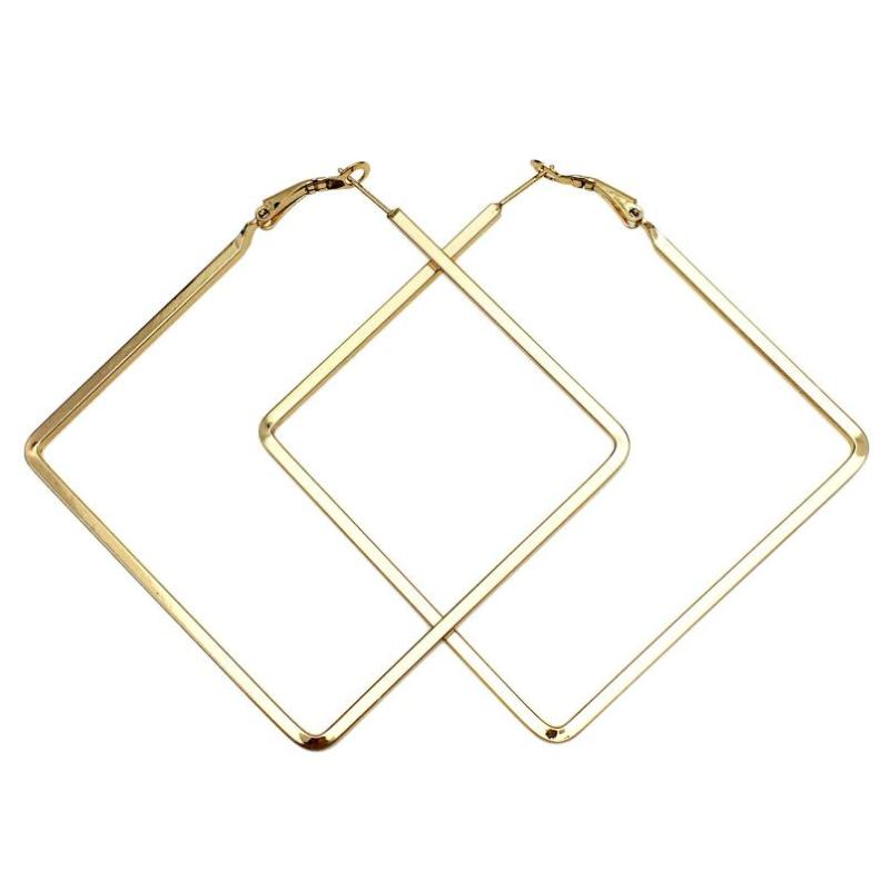 SQUARE BIG DROP EARRINGS - impaviid