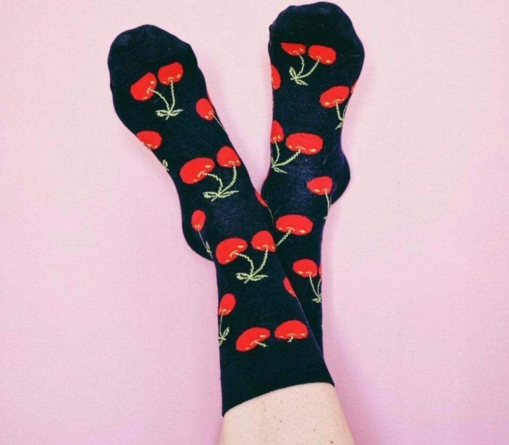 HARAJUKU STYLE FRUITY SOCKS MULTIPLE COLORS - impaviid
