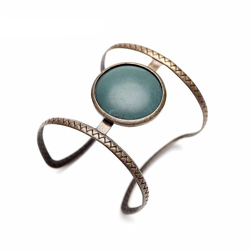 VINTAGE ETHNIC OPEN CUFF BANGLE - impraid