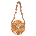 ROUND WOODEN / STRAW BAG 2 COLORS - impaviid