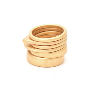 6 PCS VINTAGE GEOMETRIC RING SET - IMPAVIID