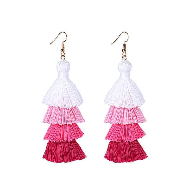 11 COLORS TASSEL DROP EARRINGS - IMPAVIID