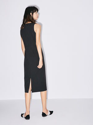 MINIMALISTIC MIDI DRESS CLASSIC CUT 2 COLORS - impaviid