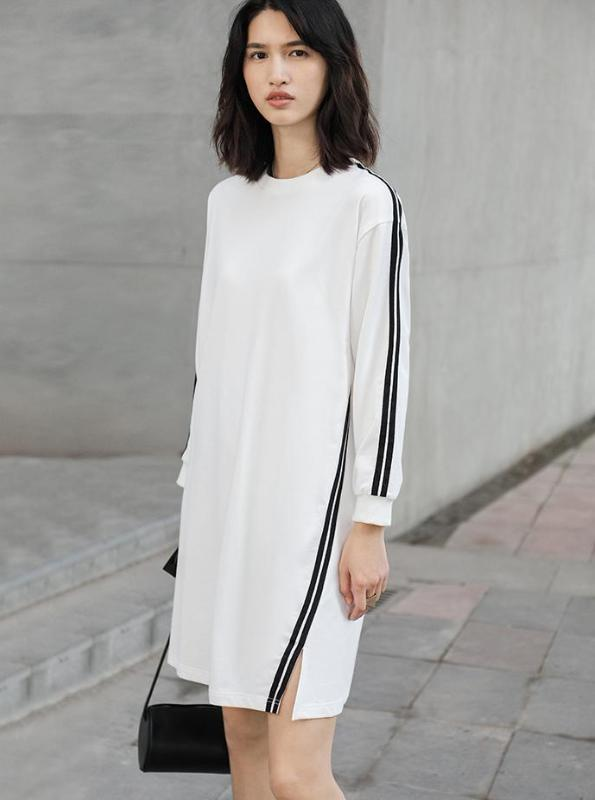MINIMALIST CASUAL SWEATSHIRT DRESS SIZE: S - XXXL - impaviid