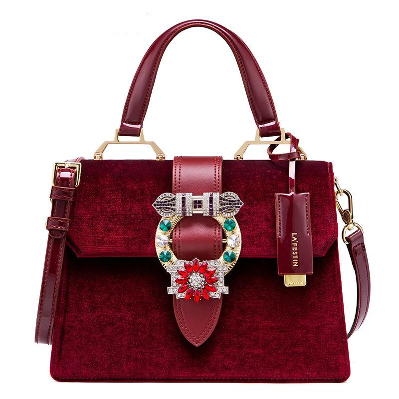 VELVET LUXURY HANDBAG 3 COLORS CRUELTY-FREE - impissid