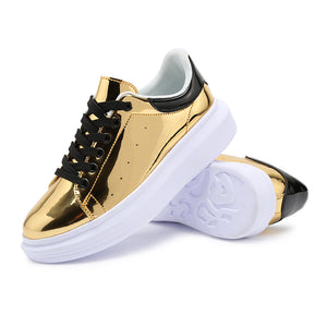 MIRROR METALLIC SNEAKERS 4 COLORS VEGAN LEATHER - impaviid