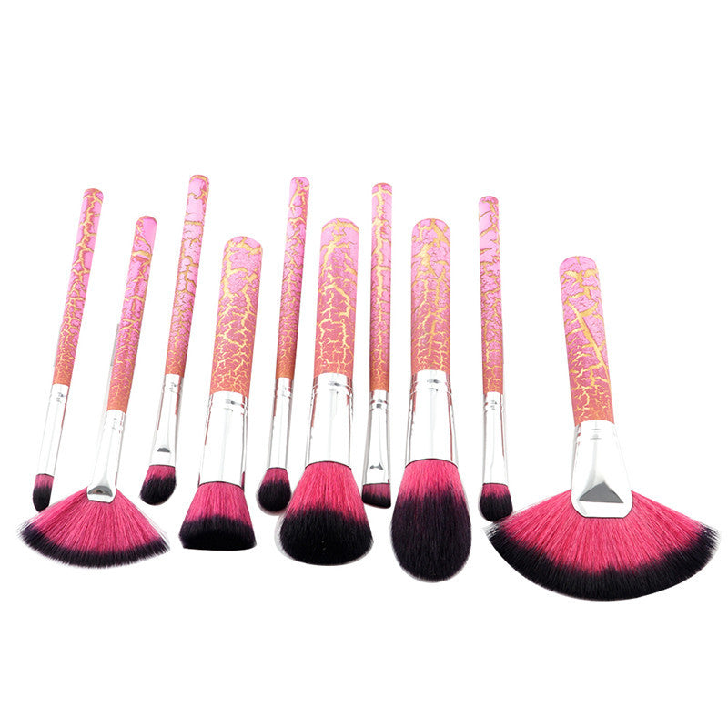 10 PCS BROKEN MARBLE MAKEUP BRUSHES SET CRUELTY FREE - IMPAVIID