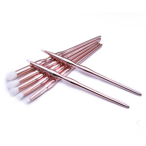 7PCS MAKEUP BRUSHES 3 COLORS GLITTER DIAMOND HANDLE CRUELTY-FREE - IMPAVIID