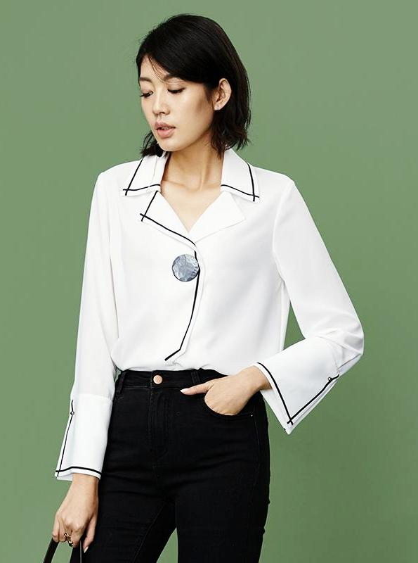 CONTRASTING ACCENTS BUSINESS SHIRT - IMPAVIID