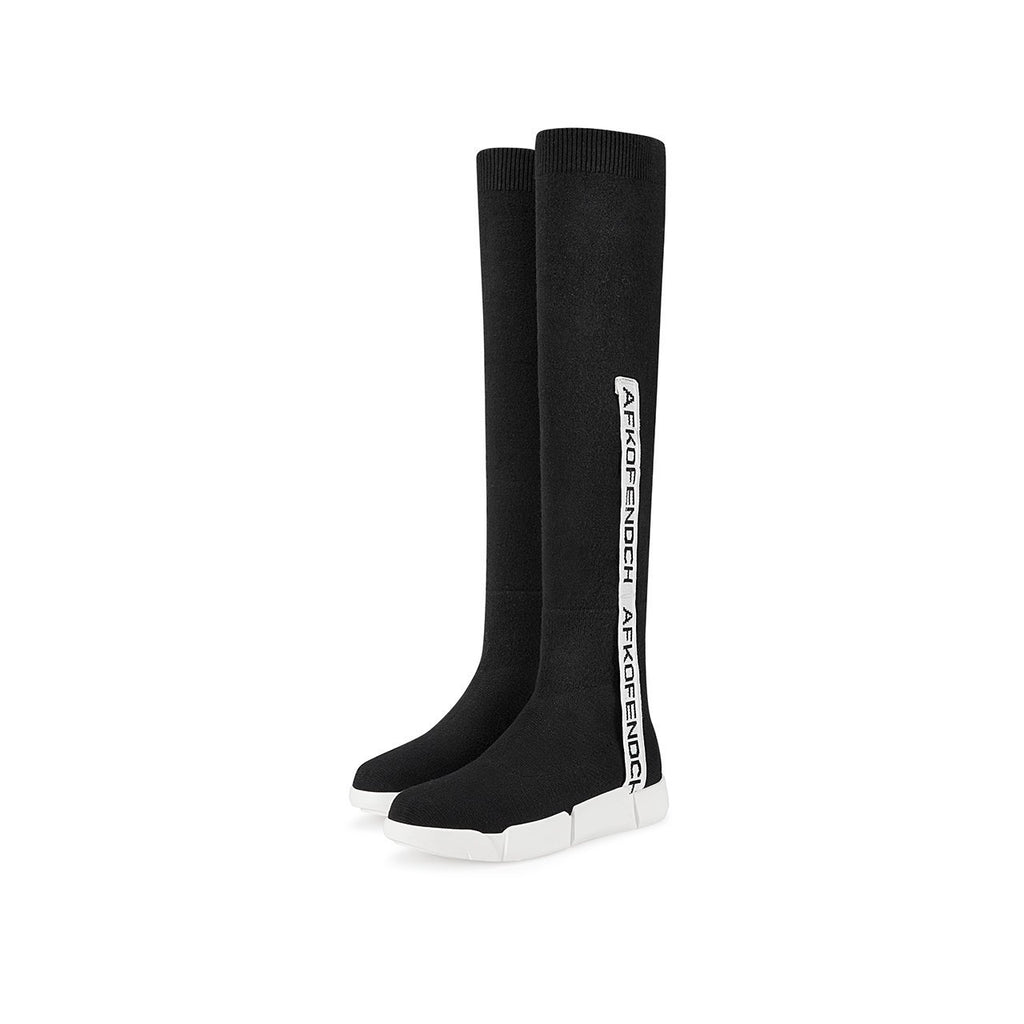 PLATFORM OVER-THE-KNEE BOOTS CRUELTY-FREE - impaviid