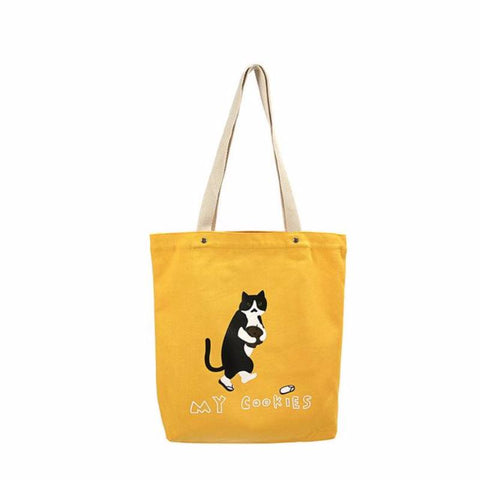 COOKIE CAT & KIMONO CAT CANVAS JAPANESE TOTE BAGS 3 COLORS 2 SIZES