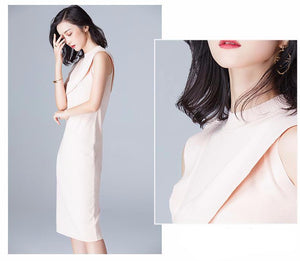 KNITTED SLEEVELESS DRESS WITH RUFFLES 4 COLORS