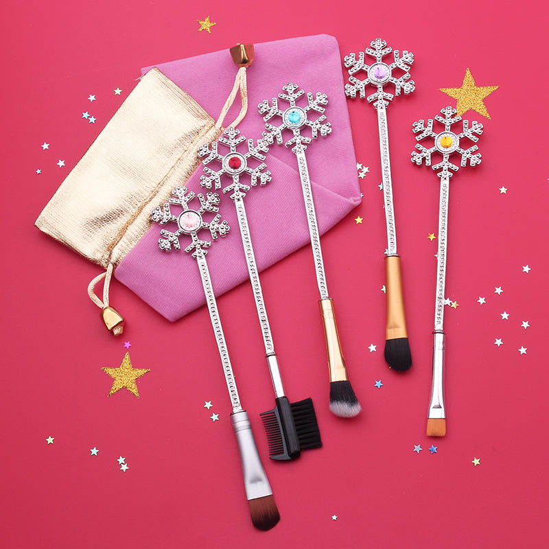 [LIMITED ITEM] SNOWFLAKES BRUSHES SET 5 PCS