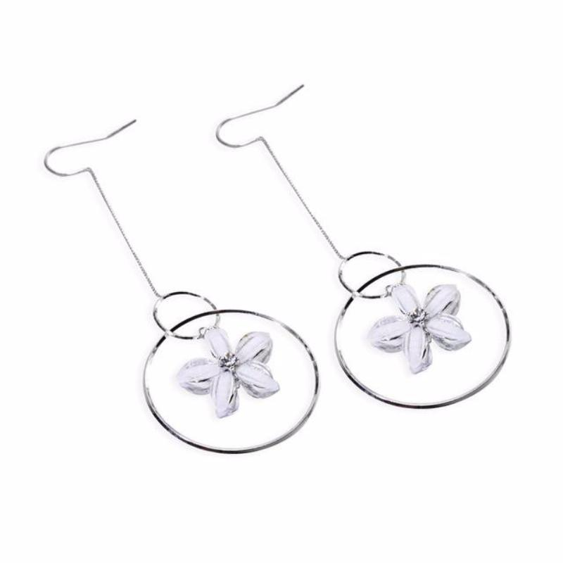 BOUCLES D'OREILLES LONG FLORAL DROP JAPANESE - impaviid