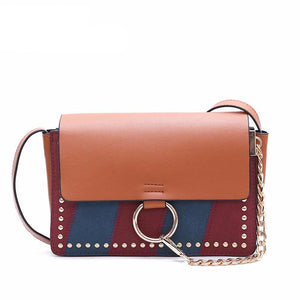 COLOR BLOCK KOREA DISAIN VEGAN LEATHER BAG - IMPAVIID