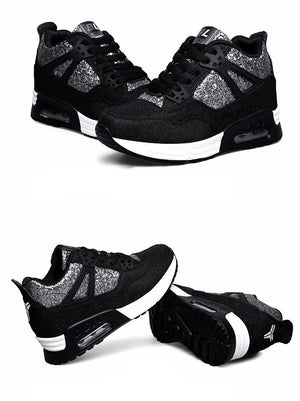 SPARKLING BREATHABLE SNEAKERS ON A WEDGE WITH CRUELTY-FREE SPRING 2018 - impaviid