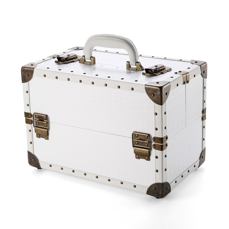 AESTHETHIC WHITE PORTABLE PROFESSIONAL COSMETIC / MAKEUP SUITCASE - IMPAVIID