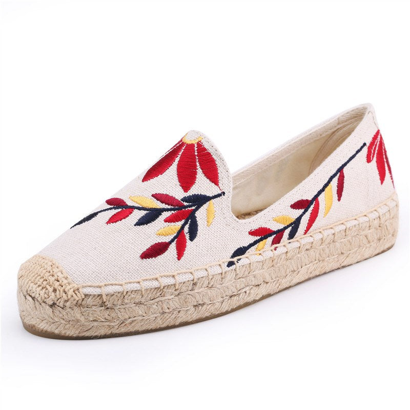 EMBROIDERED COTTON ESPADRILLES CRUELTY-FREE - impaviid