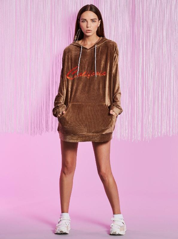 VELVET LETTER EMBROIDERY OVERSIZED HOODIE 3 COLORS - impaviid