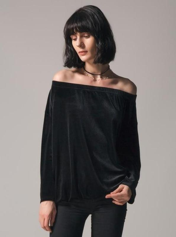VELVET OFF SHOULDER TOP SPRING 2018 - impraid