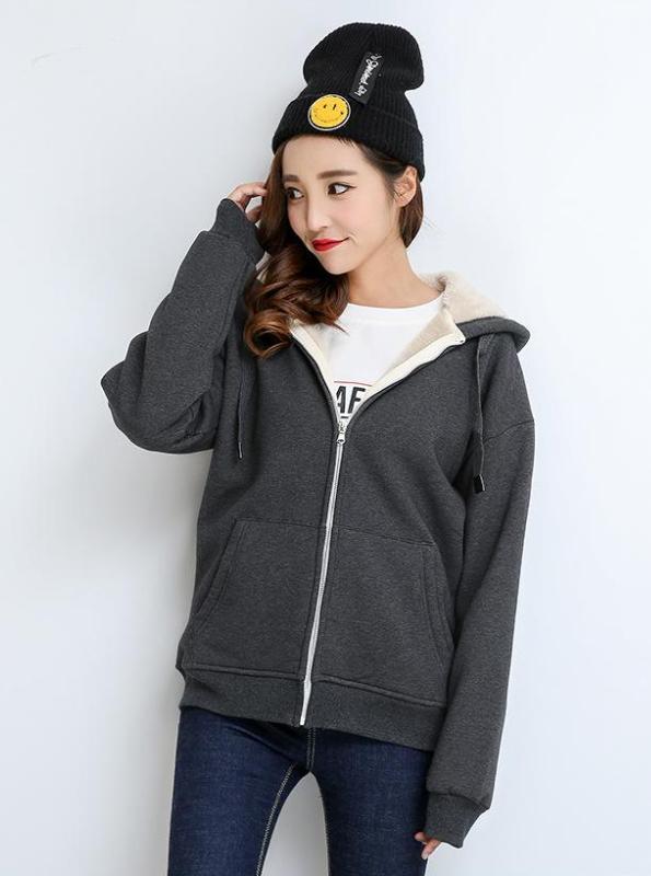 THICK CASUAL ZIP-UP HOODIE 5 COLORS - impaviid
