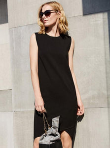 MINIMALISM ENKEL O-NECK DRESS - impaviid