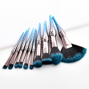 10 & 8 PCS MAKEUP BRUSHES DARK UNICORN CRUELTY-FREE - IMPAVIID