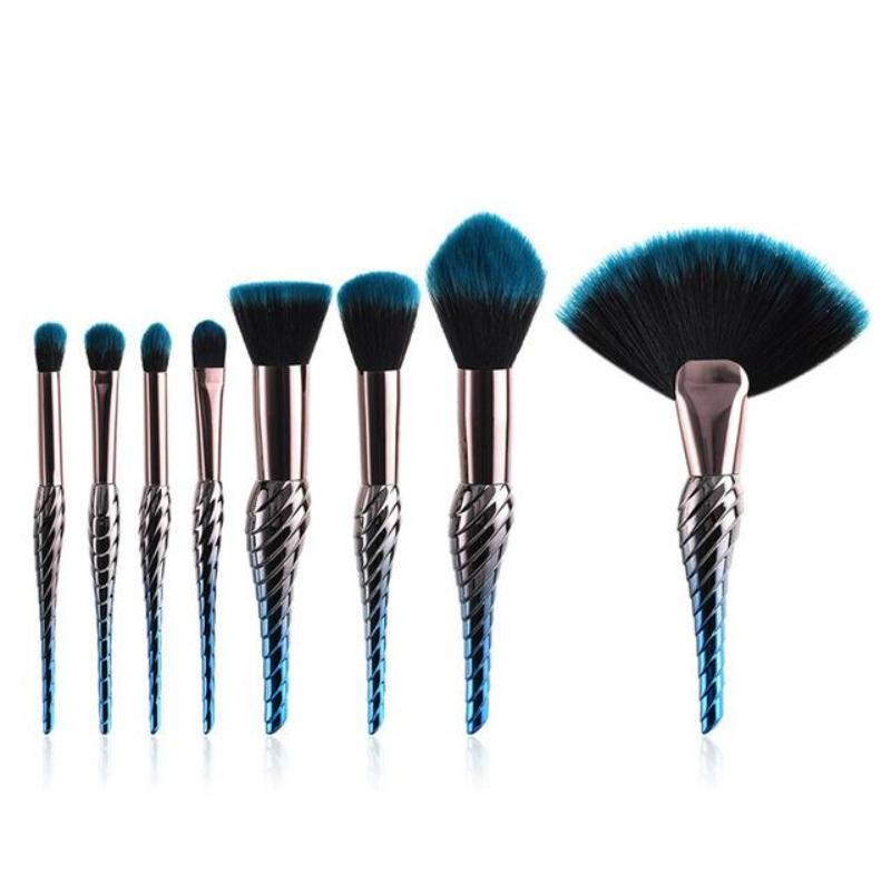 10 & 8 PCS MAKEUP BRUSHES DARK UNICORN CRUELTY-FREE