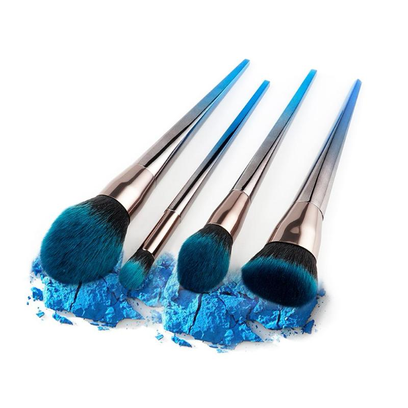 DIAMON METALLIC MAKEUP BRUSHES GRADIENT COLOR 3 OPTIONS CRUELTY-FREE
