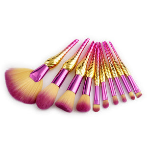 10 & 8 PCS GRADIENT UNICORN MAKEUP BRUSHES CRUELTY-FREE - IMPAVIID