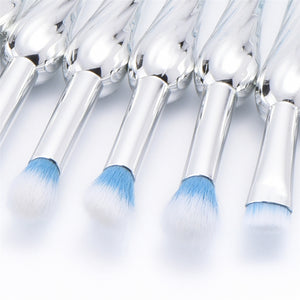 10PCS METALLISET BRUSHIT SET 2 VÄRIT CRUELTY-BRISTLES - IMPAVIID