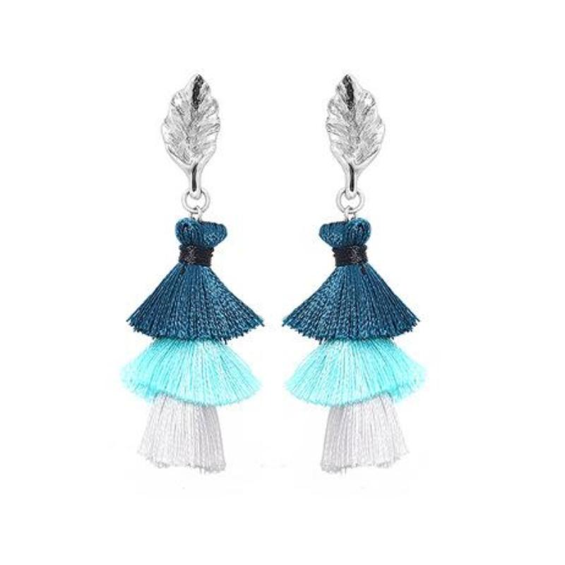OMBRE TASSEL / FRINGE EARRINGS - impaviid