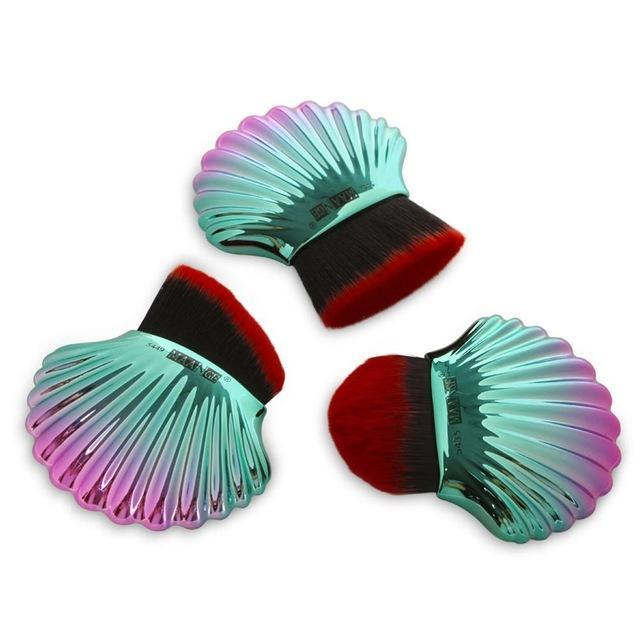3 PCS MERMAID SHELL MAKEUP BRUSHES - IMPAVIID