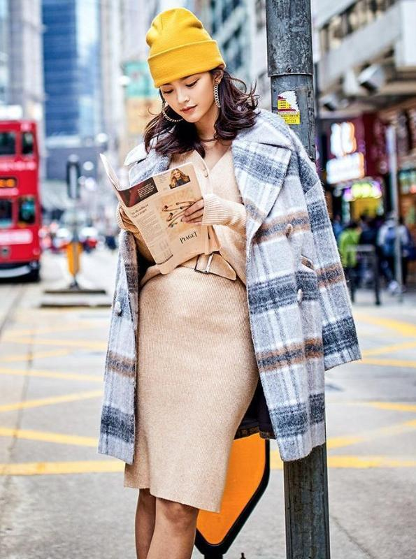 FUZZY PLAID BUTTONED UP COAT