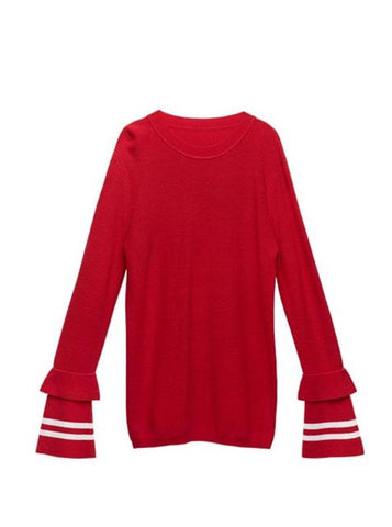 CASUAL & CHIC SWEATER WITH FLARE SLEEVES 2 COLORS