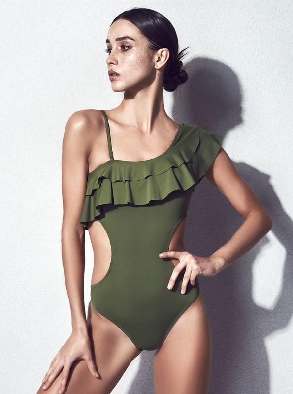 FRÅN SKJULARE RUFFLED ONE PIECE SWIMSUIT - impaviid