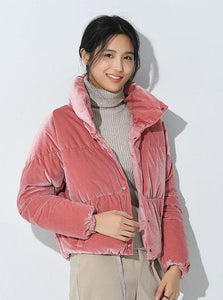 VELVET PADDED JACKET 2カラーズKOREAN DESIGN  -  impaviid