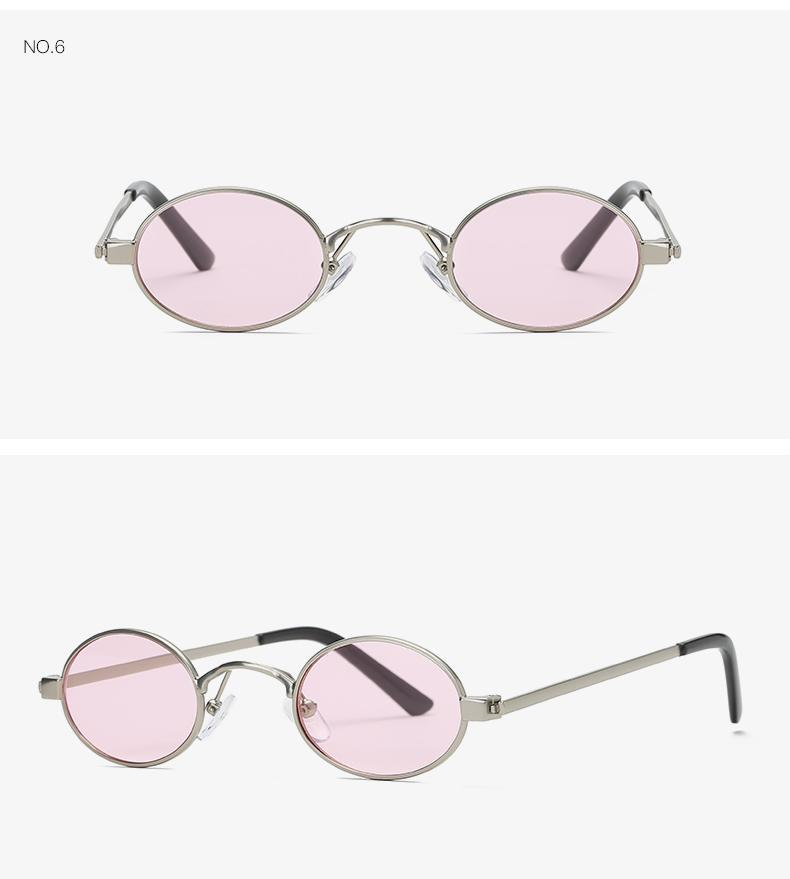 VINTAGE SMALL OVAL SUNGLASSES MULTIPLE COLORS - impaviid