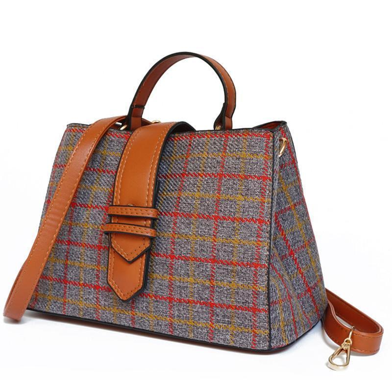 PLAID CROSSBODY BAG BEZROCZONOŚĆ - impaviid