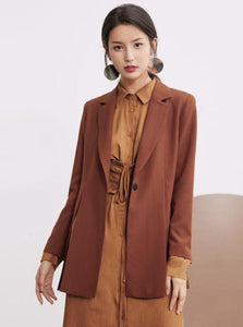 CASUAL VINTAGE BLAZER 2 COLORS WITH SIDE SPLITS - IMPAVIID